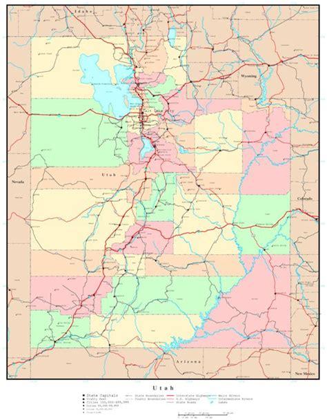 utah reference map utah political map
