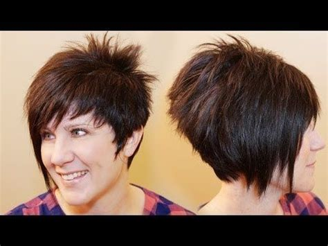how to cut own a line hairstyles how to cut womens hair short pixie assymetrical a line