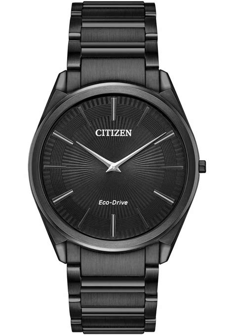 Citizen Eco-Drive 4.7mm Ultra Thin All Black | Watches.com