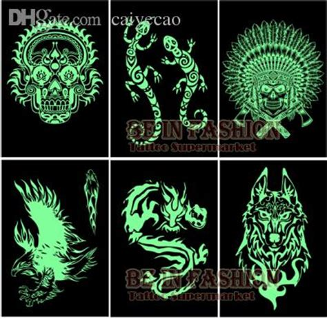 how long do glow in the dark tattoos last wholesale glow in the flash tattoos stickers sheets