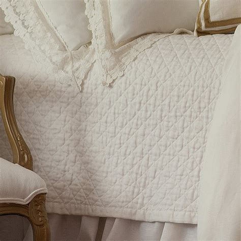 lace coverlet bedding lili alessandra theresa white linen with lace bedding