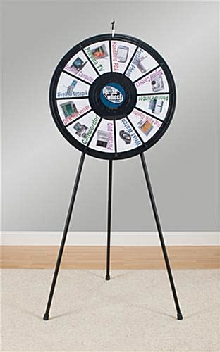 Spinning Game Wheel Adjustable Legs For Floor Or Tabletop Prizewheel Templates
