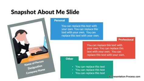 Flat Design Templates Powerpoint Opening Slides About Me Powerpoint Template