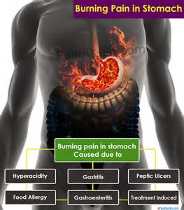 what can cause burning in stomach
