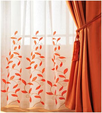 orange colored curtains easy home decor ideas window treatment or curtain trends for spring 2013