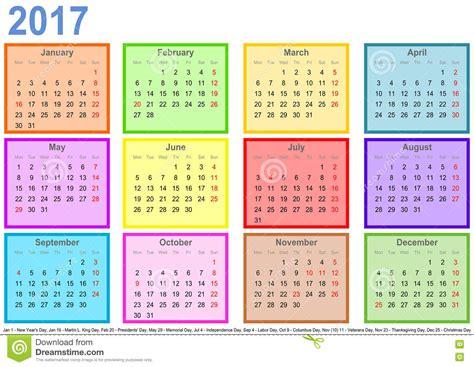 calendario 2017 mes a mes haga calendarios 2017 con los cos coloridos por el mes