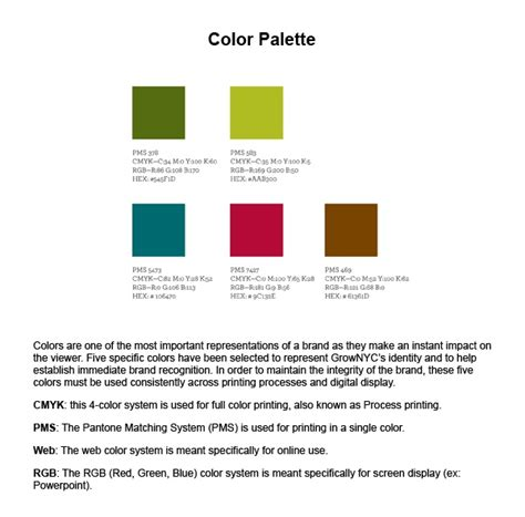 color palette exles sofii 183 graphic design style guide with exles
