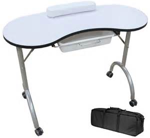 portable folding manicure table station nail