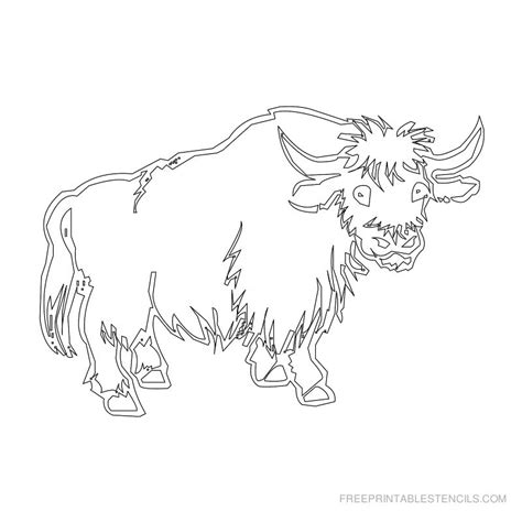 printable animal stencils pin animal cow stencil pattern coolstencilsnet on pinterest
