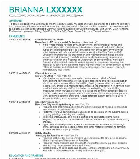 resume objective for clerical position eye grabbing clerical resumes sles livecareer