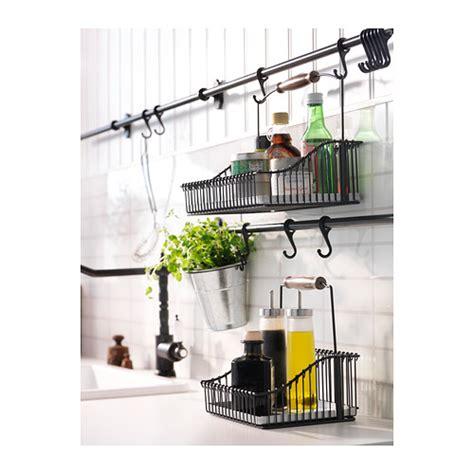 ikea hanging kitchen storage fintorp rail black 79 cm ikea