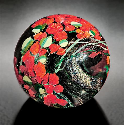 Glass Paper Weight - roses paperweight by shawn messenger glass