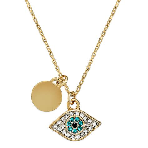 couture evil eye pendant necklace in metallic lyst