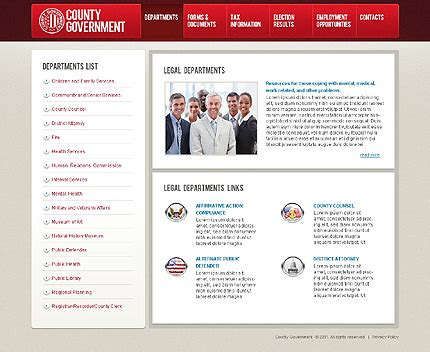 free templates for government website government website template 36815