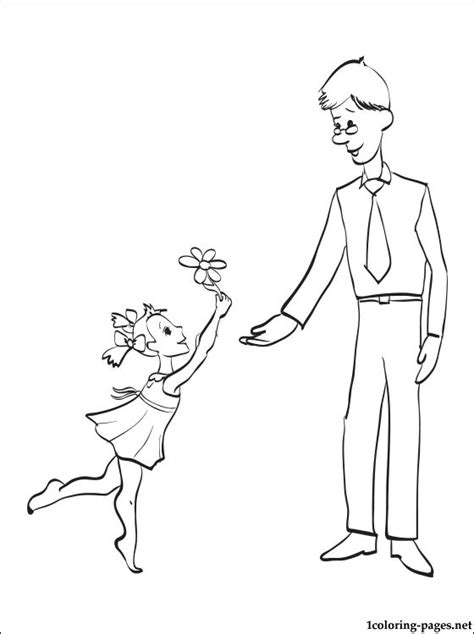 coloring sheet for father s day coloring pages