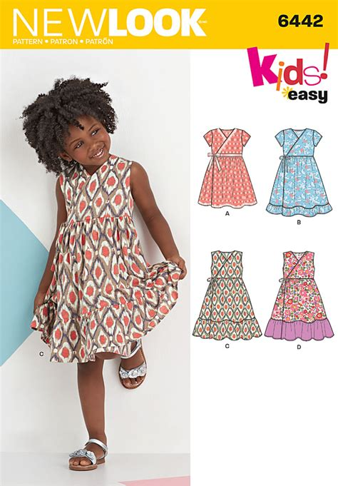 pattern review best patterns 2013 new look 6442 child s easy wrap dresses