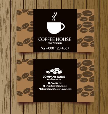free coffee bussiness card template creative coffee house business cards vector graphic free