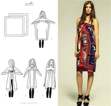 Hermes Scraf Dress 18 impressive ways to style a scarf as a top skirt or