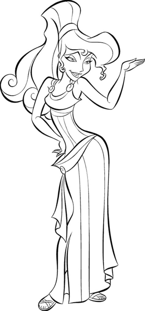 Famous Cartoons Coloring Part 24 Megara Coloring Pages