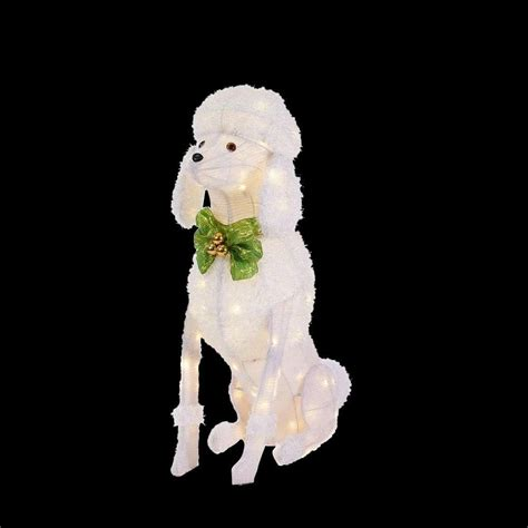 home accents outdoor christmas decorations home accents holiday 36 in led lighted sitting poodle