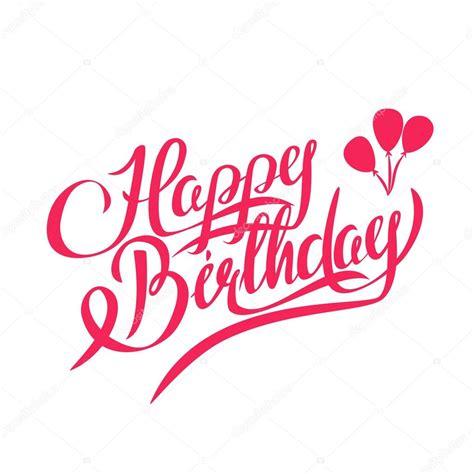 Word Vorlage Happy Birthday Alles Gute Zum Geburtstag Vektor Schrift Design Element