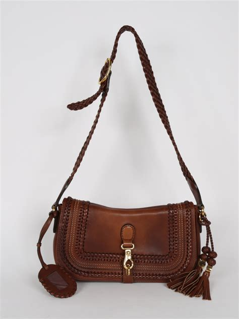 Guc Ci Leather Brown gucci handmade brown leather shoulder bag luxury bags