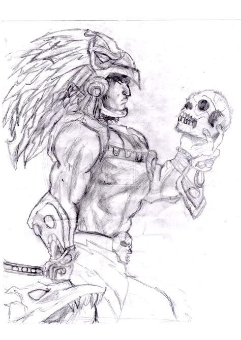 Aztec Warrior By Alfazx On Deviantart Aztec Warrior Sketches