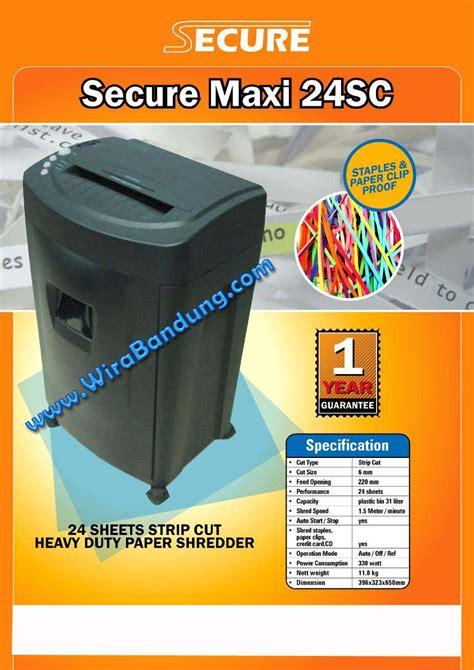 Secure Maxi 15a Mesin Penghancur Kertas Laminating Hitung Uang Jilid jual paper shredder cut bandung harga penghancur kertas bandung pencacah kertas murah bandung