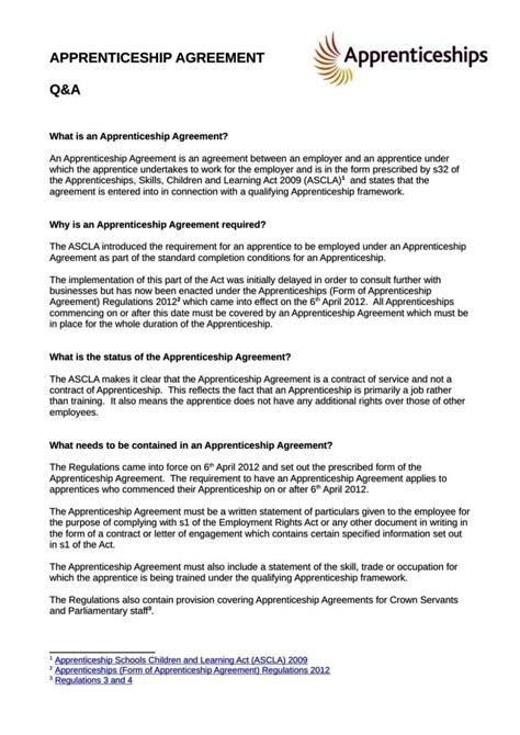 apprenticeship contract template sampletemplatess