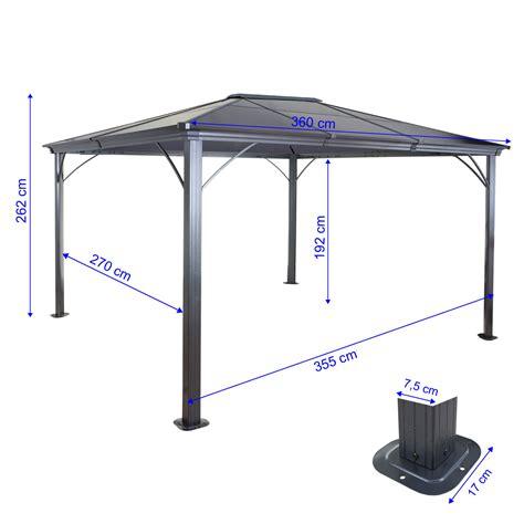 pavillon alu 3x3 hardtop pergola mcw c74 garten pavillon kunststoff dach