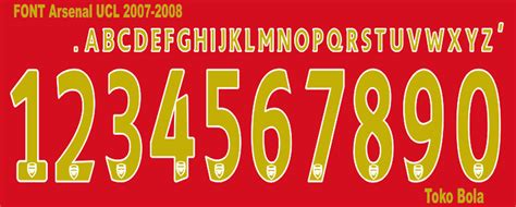 arsenal ucl font football font collection arsenal font ucl