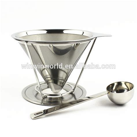 V60 Stainless Steel Coffee Dripper stainless steel single cup coffee dripper filter with