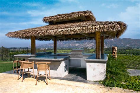 Backyard Palapa Tropical Palapa Outdoor Kitchen Tropical Patio Los