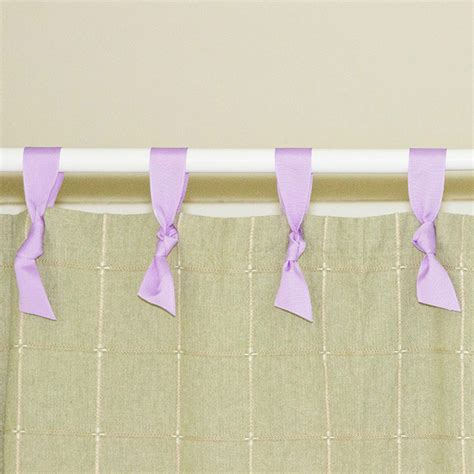 ribbon shower curtain offray shower curtain hung with ribbon