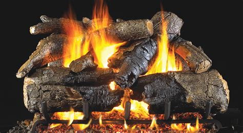 charred american oak fireplace gas logs peterson real