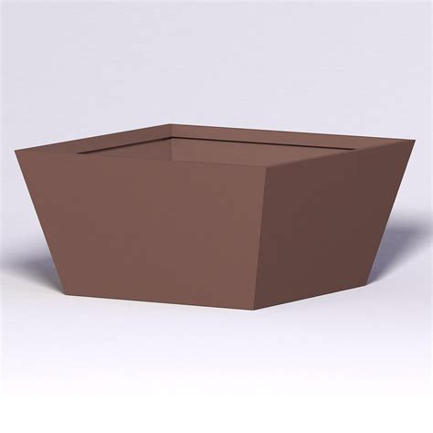 modern tapered fiberglass commercial planter 72in l x 72in