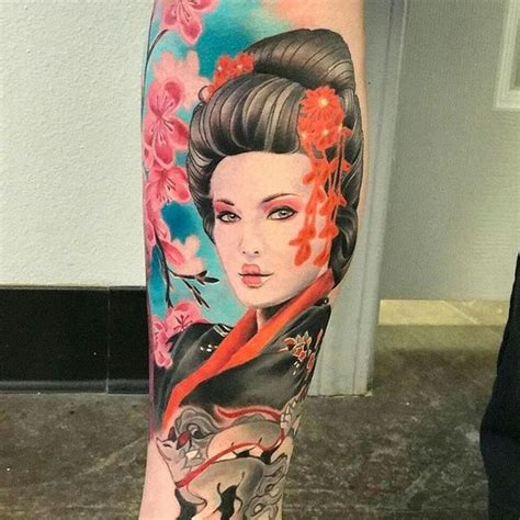 geisha tattoo with cherry blossoms 65 small cherry blossom tattoo ideas