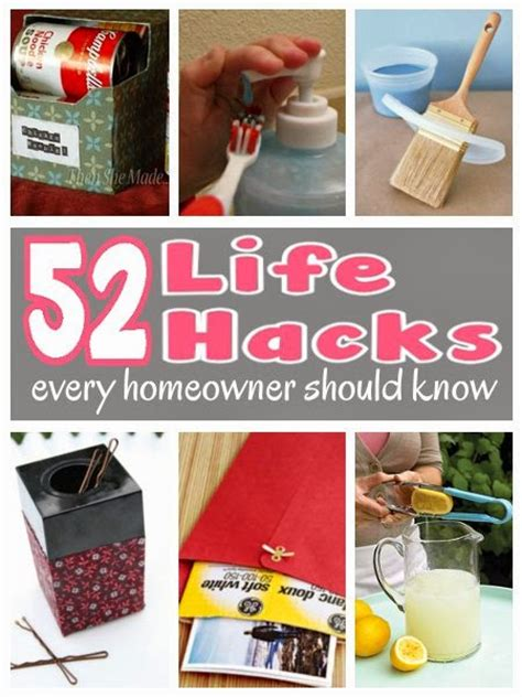 life hacks for home 52 life hacks every homeowner should know diy craft projects