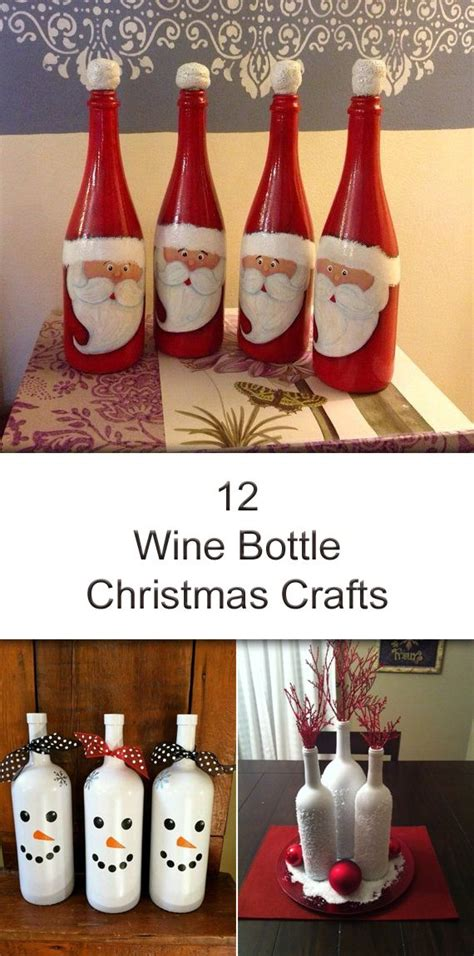 12 amazing wine bottle christmas crafts bottle wine and