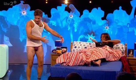 celebrity juice new series 18 gino d aco bares all for racy challenge with mel sykes