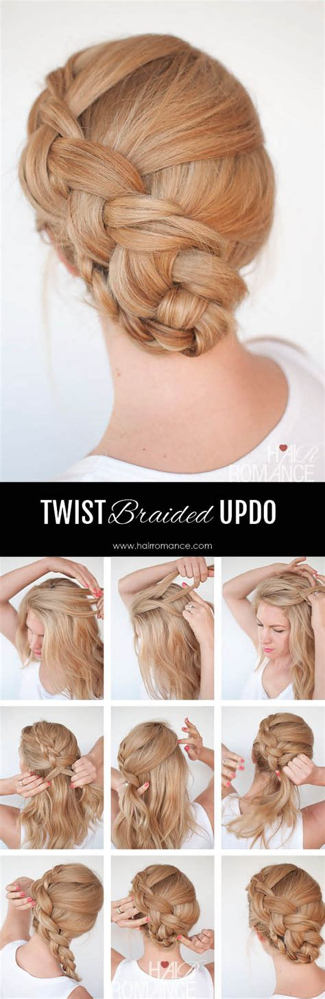 step by step twist hairstyles new braid hairstyle tutorial the twist braid updo hair