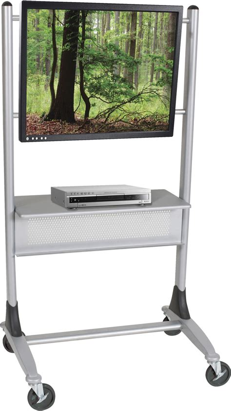 platinum mobile upholstery balt platinum mobile cart for plasma and lcd televisions