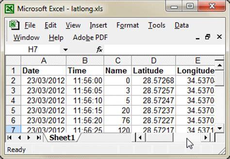 gps format converter excel longitude latitude google earth format