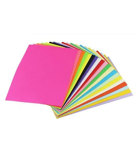Color Craft Paper - ziggle a4 color paper for photocopy craft printing