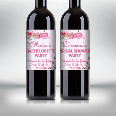 wine bottle labels bridal shower gift 2 bridal shower wine bottle labels customized