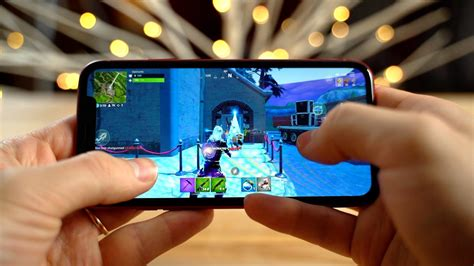 compared fortnite on the iphone xr versus note 9
