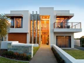 Textured Front Facade Modern Box Home by Architecture Modern House Facade With Front View Modern