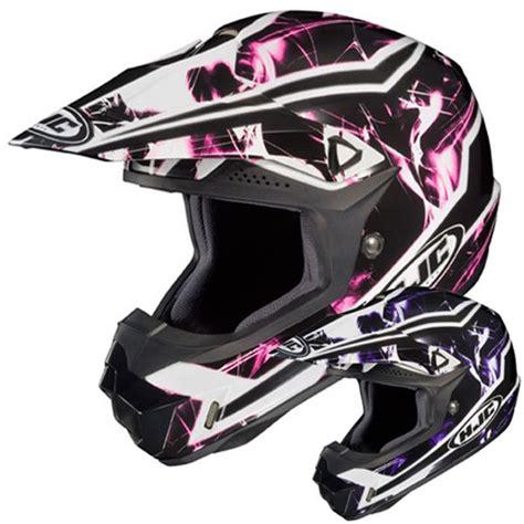 womens motocross helmets hjc cl x6 hydron womens mx dirt bike road atv