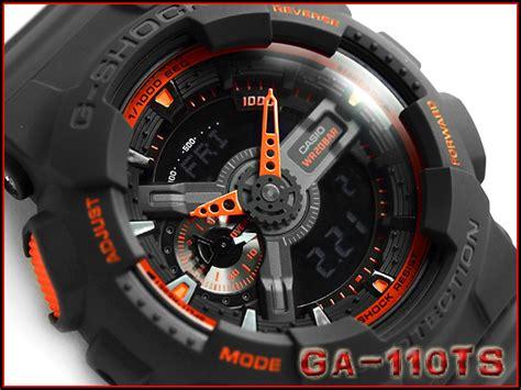 G Shock Orange Black g supply rakuten global market casio g ショックジーショックアナデジメンズ black orange ga 110ts 1a4dr