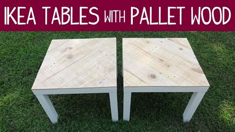 recycled pallets and 2 ikea lacks made an awesome rustic ikea lack table makeover version 1 with pallet wood